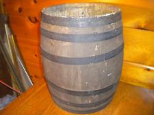 Vintage Wooden Paint Bucket  / Herill & Brotter White Paint Philadelphia Paint K