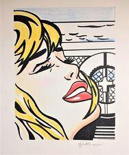 ROY LICHTENSTEIN ORIGINAL * SHIPBOARD GIRL * INK & COLORED PENCIL ON CARDSTOCK