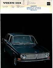 Volvo 144 Italian Language 16 Page Brochure Depliant 1967 From Bologna