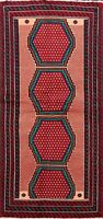Vintage Tribal Balouch Hand-knotted Area Rug Home Decor Oriental Geometric 3'x6'