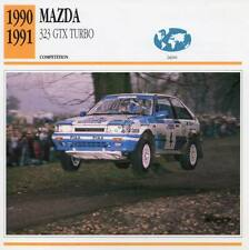 1990-1991 MAZDA 323 GTX Turbo Racing Classic Car Photo/Info Maxi Card
