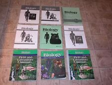 ABEKA 10th GRADE  BIOLOGY SET        CLEAN BOOKS   NO MISSING PAGES
