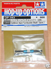 Tamiya 53943 3x46mm Hard Turnbuckle Shaft (2 Pcs.) (DF02/DF03/DT02), NIP