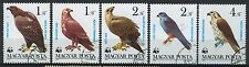 Hungary 1983, Birds of pray, WWF, 5 of 7values used