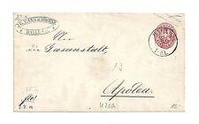 Pr Vor / HALLE A/S 7-8 A. 20.10., vorphil. K2 a. dek. weißem Brief m. re. Rd.-St