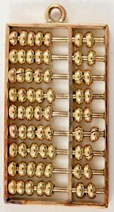 VINTAGE ABACUS CHARM 14K YELLOW GOLD MOVABLE