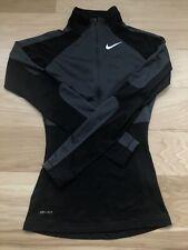 Nike Pro 1/2 Zip Athletic Running Pullover Jacket Size XS Black EUC