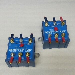 GEMS ST-28196 Flip-Pak Solid State Relay (Pair) w/instructions