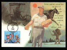 US FDC #2420 Letter Carriers 1989  Fleetwood Cachet Maximum Card