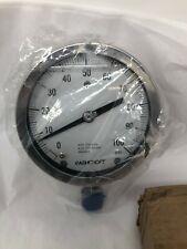 Ashcroft 45-1009-S-04L-100# Type 1009 Industrial Pressure Gauge 0-100 PSI