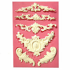 Baroque Designs 6 Cavity Silicone Mold for Fondant, Gum Paste, Chocolate, Crafts