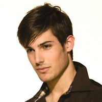 Perruques beaux cheveux bruns perruques de cosplay naturelles courtes droites G