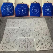 Patchwork Quilting Templates Set 12x 12cm Plastic Stencils 9pcs Embroidery Tools