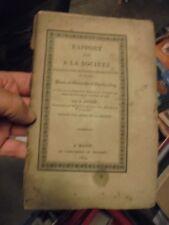 Rapport fait à la Société d'Agriculture Sciences Belles Lettres de Mâcon 1829