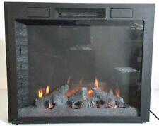 32″ Infrared Electric Log Burning Fireplace Insert Firebox for Mantel 120v