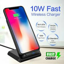 For Apple iphone Xs Max 8 7 6 6s Plus Qi Wireless Fast Charger Stand + Receiver
