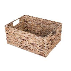 Water Hyacinth Wicker Storage Collection Display Christmas Gift Hamper Basket
