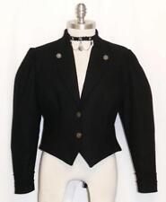 BLACK ~ WOOL Women German Austria Fitted Riding Dress Suit Coat JACKET / 6 8 S