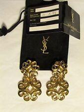 boucles d'oreilles vintage YVES SAINT LAURENT métal doré