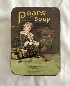 Vintage Pears Soap Tin Storage Container