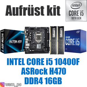🅸🅽🆃🅴🅻 Core i5 10400F ● ASRock H410 Mainboard ● 16GB RAM ● Intel Bundle Kit