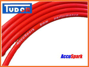 Silicone HT lead 8mm Red Double ,AccuSpark ignition wire on roll, sold per Meter