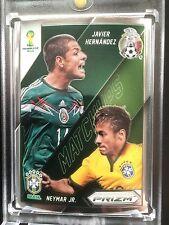 Mexico/ Brazil MATCHUPS Neymar vs Javier Hernandez-Silver Prizm Panini Soccer #2