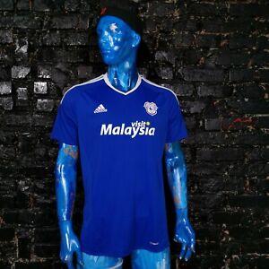 .Cardiff City Jersey Home shirt 2016 - 2017 Adidas AP8236 Trikot Mens Size XL