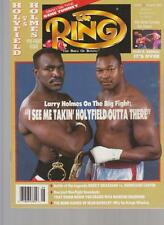THE RING MAGAZINE EVANDER HOLYFIELD-LARRY HOLMES BOXING HOFers COVER AUGUST 1992