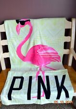 Victorias Secret Pink Flamingo Large Beach Towel NWT