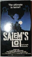 SALEM'S LOT Full Length VHS Miniseries 2 Pack 184min Steven King Horror