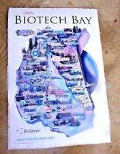 LOVELY CARTOON MAP BIOTECH BAY CHIRON CELERA GENENTECH BIORAD CELL GENESYS 2005