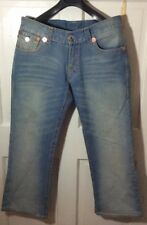 True Religion Rainbow Billy Heavy Distress USA Made Men's Jeans 34 x 29 Awesome
