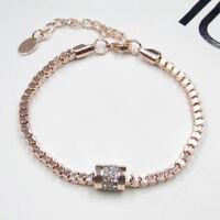 Damen Luxus Kristall Strass Golden Eroeffnen Armband Armreif ArmschmuckA+ V0S3