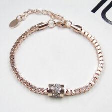 1Paar Damen Luxus Kristall Strass Golden Eroeffnen Armband Armreif-Armschmuck