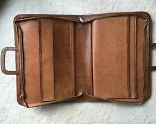 TRUE VTG Mid-Century MCM Faux Leather Business Briefcase Laptop Attache Case ZIP
