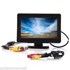 "2 in1 4.3"" 12V TFT LCD Car Rear View Monitor Night Vision Parking Reverse Camera"