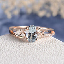 ROSE GOLD FILLED CUBIC ZIRCONIA WITH WHITE CRYSTAL SAPPHIRES SIZE  M 1/2