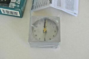 BRAUN AB1A quartz, Wecker alarm clock, silber, Design D. Lubs 1994, neu/new.