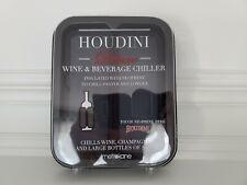 Houdini Deluxe Wine & Beverage Chiller Metrokane Black Insulated With Neoprene