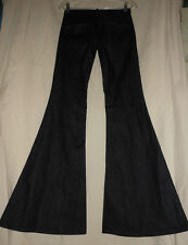 7 For All Mankind USA 25 NWT Dark Denim Bell Bottom Jeans 25X33 Boho Hippie