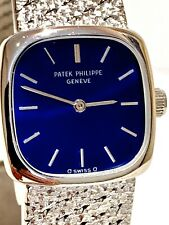 Patek Philippe Ellipse 4179/1, 18k White Gold, Deep Blue Ocean Dial