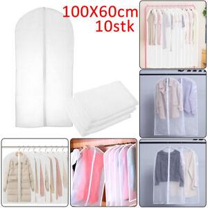 10 Kleiderschutzhülle Kleidersack Schutzhülle transparente Kleiderhülle 100*60CM