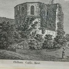 "Antique 1784 Engraving by S. Hooper of Chilham Castle, Kent Sparrow Sculp 13"""