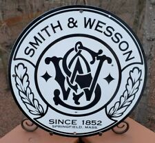 VINTAGE PORCELAIN SMITH & WESSON 1852 ADVERTISING SIGN