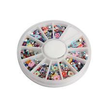 1500pcs Wheel Mix Shape Glitter Nail Art Acrylic Rhinestones Decoration Manicure