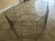 Refurbished Tall Playpen Crate Fence Pet Kennel PlayPen Exercise Cage-8 Panel