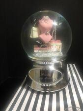 "Danbury Falls Fabulous Engraved ""Rose Happy Holidays ""Snow Water Globe"