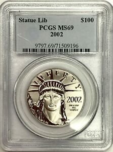 2002 United States $100 Statue of Liberty American Platinum Eagle PCGS MS68