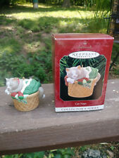 Hallmark Keepsake Ornament Qx6383 1998 Cat Naps Collector's Series #5 Basket